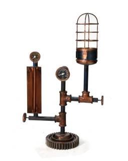 Železná lampička z recyklovaných súčiastok, 42x20x75cm