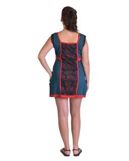 """Šaty, krátke, bez rukávov, potlač """"Bubble design"""", červeno-modré, vrecká"""