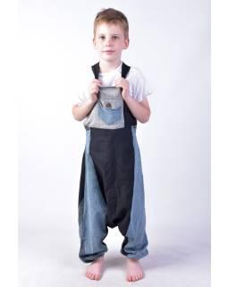 Detské nohavice s trakmi, šedej
