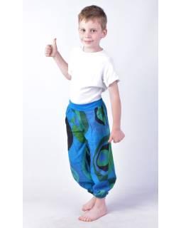 "Detské nohavice balónové, ""Disco design"", modré"