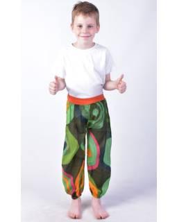 "Detské nohavice balónové, ""Disco design"", zelené"