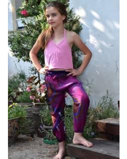 "Detské nohavice balónové, ""Disco design"", fialové"