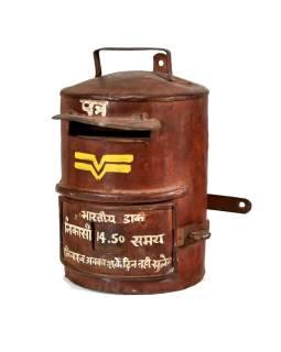 Poštová schránka Indické pošty, ručne maľovaná, 20x23x30cm