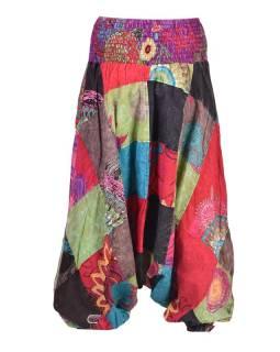 Multifarebné patchworkovej turecké nohavice, žabičkování