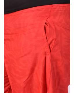 """Červené zvonové nohavice s vysokým pásom, """"Mandala design"""""""