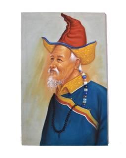 Ručne maľovaný obraz na plátne, Nepál, cca 48 * 72cm