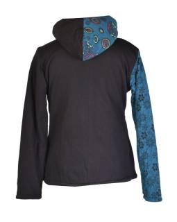 Modrá mikina s kapucňou zapínaná na zips 95434ebc050