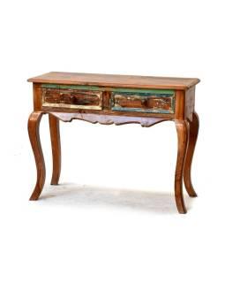 Odkladací stolík z antik teakového dreva, 100x40x75cm