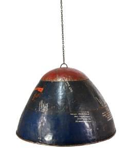 Lampa z recyklovaných plechov, ručné práce, priemer 58, výška 40cm
