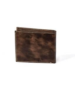 Pánska kožená peňaženka, Spiral sun, hnedá mäkká koža, 12x9cm