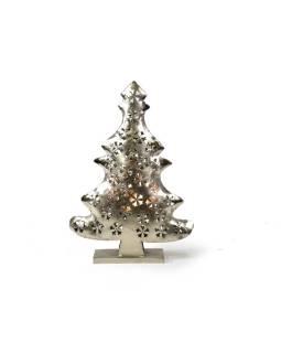 Vianočný stromček, kovový svietnik, ručné práce, 46x32x10cm