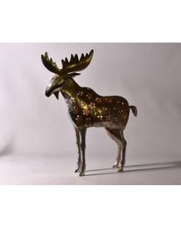 Los, kovový svietnik, ručné práce, prerezávané ornamenty, vyššie. 65cm