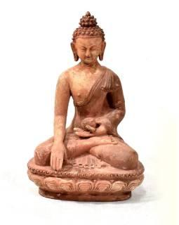 Buddha Šakjamúni, antik patina, keramika, ručné práce, 25cm