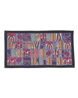 Patchworková tapisérie z Rajastan, ručné práce, 80x45 cm