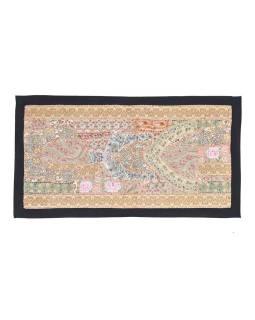 Unikátny patchworková tapisérie z Rajastan, ručné práce, 80x45 cm