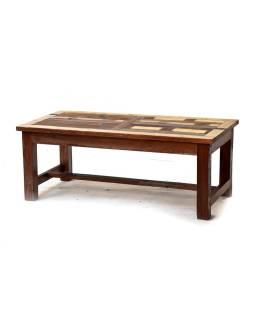 """Konferenčný stolík v """"Goa"""" štýle, antik teakové drevo, 120x60x45cm"""