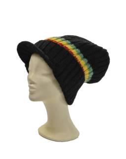 """Čiapky, """"Bob Marley"""", pruhy -RASTA-, šilt, vlna, podšívka"""