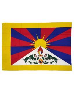 Vlajka Tibet, screen print, 2 očká na prichytenie, 125x85cm