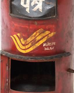Poštová schránka Indické pošty, ručne maľovaná, 34x34x63cm