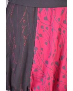 Krátka balónová sukňa, šedo-ružová, elastický pás