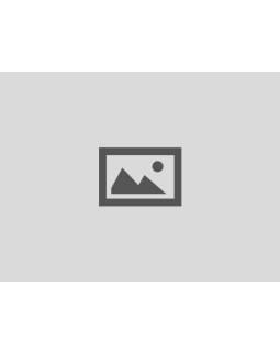 Maľované porcelánové madlo na šuplík, biele s modrými prúžkami, priemer 3,7 cm