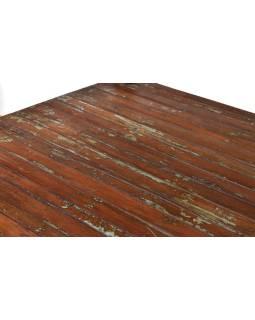 Konferenčný stolík z antik teakového dreva, 182x96x65cm