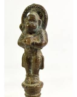 Zvonček sa soškou Hanuman, antik, 15cm