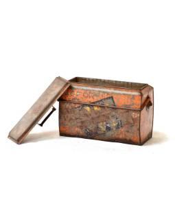 """Kovová chladnička """"GOFOR-GOLD SPOT"""", vintage, 43x22x35cm"""