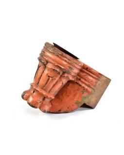 Antik svietnik z mangového dreva, 12x8x15cm