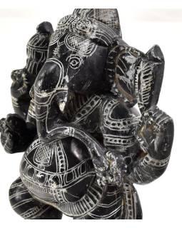 Kamenná soška, Ganéša stojace, ručne vyrezávaná, 15,5cm