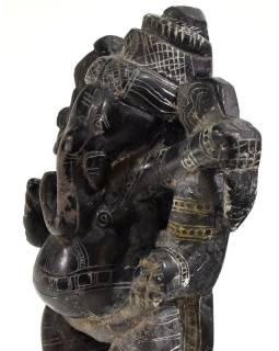 Kamenná soška, Ganéša stojace, ručne vyrezávaná, 13cm