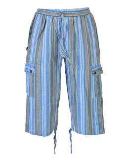 1d2f4aa626a4 Svetlé pruhované trojštvrťové unisex nohavice s vreckami