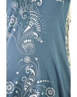 Zelené šaty s dlhým rukávom, Natural dizajn, potlač, Bio bavlna