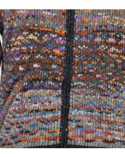 Unisex vlnený sveter s kapucňou a vreckami, šedý