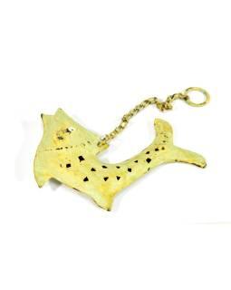 Závesná ozdoba, zelená ryba, 13x2x14cm