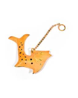 Závesná ozdoba, oranžová ryba, 13x2x14cm