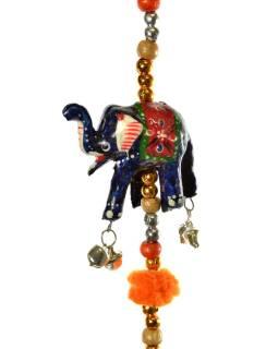 Dekorácia na zavesenie, desať slonov, dĺžka 133cm