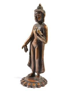 Bodhisatwa, soška malá, meď, 12,5x4cm