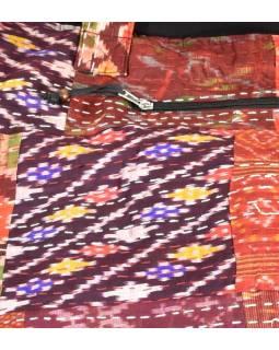 Veľká bavlnená taška s potlačou, patchwork bavlna / satén, zips, cca 38x48cm
