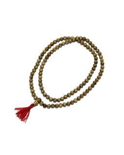 Modlitebné korálky - mala, kostená s mantrou, 8mm, 108 korálok, 43cm