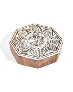 """Vyrezávané pečiatka """"Mandala"""", ručné práce, palisander, 11x11cm"""