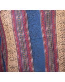 Veľký zimný šál so vzorom, tmavo modrá, 205x95cm