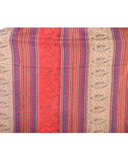 Veľký zimný šál so vzorom, červená, 205x95cm