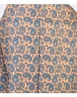 Veľký zimný šál so vzorom paisley, modrá, 205x95cm