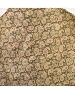 Veľký zimný šál so vzorom paisley, khaki, 205x95cm