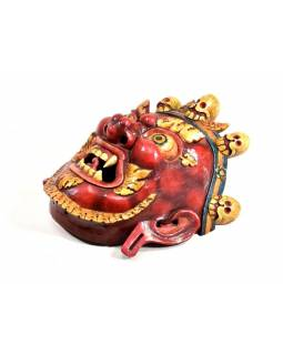 Drevená maska, Bhairab, ručne maľovaná, 38x44cm