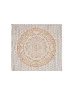 Posteľná prikrývka, Mandala, zlatá tlač, 224x206cm