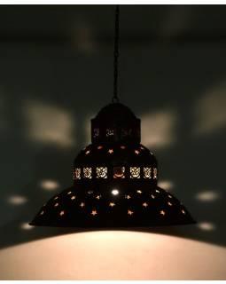 Kovová lampa v orientálnom štýle, hrdza ,, 45x45x40cm