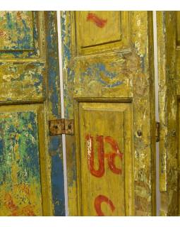 Staré kupecké dvere, použiteľné ako paraván, 120x4x217cm