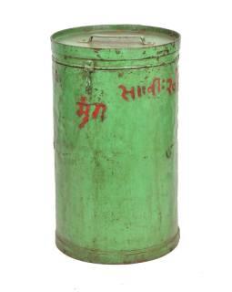 Plechová dóza, antik, 36x36x61cm